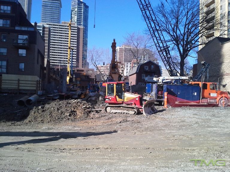 50 at Wellesley Station construction 1 - March 2016