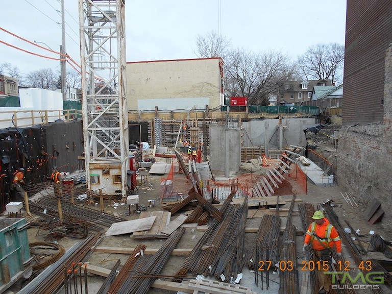 Beach Hill Residences construction 2 - March 2015