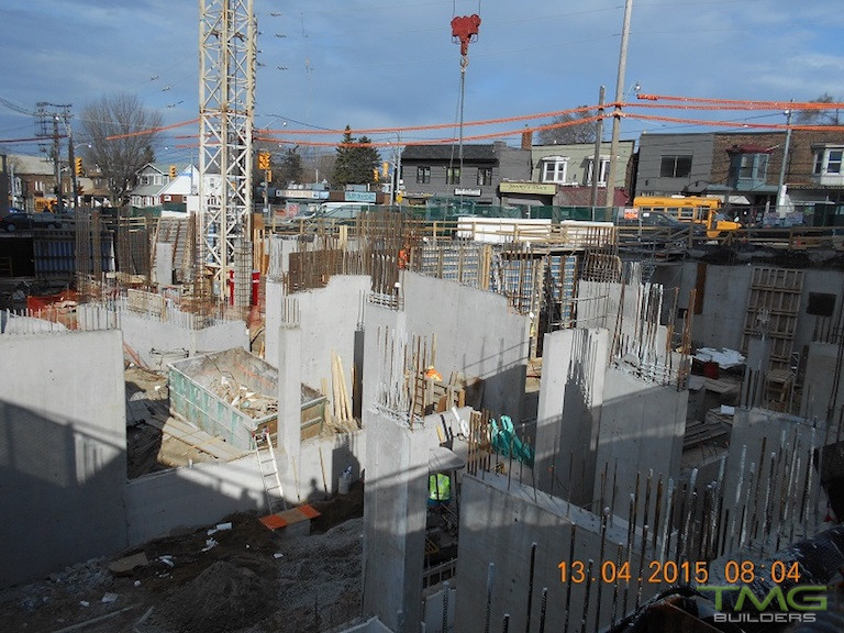 Beach Hill Residences construction 3 - April 2015
