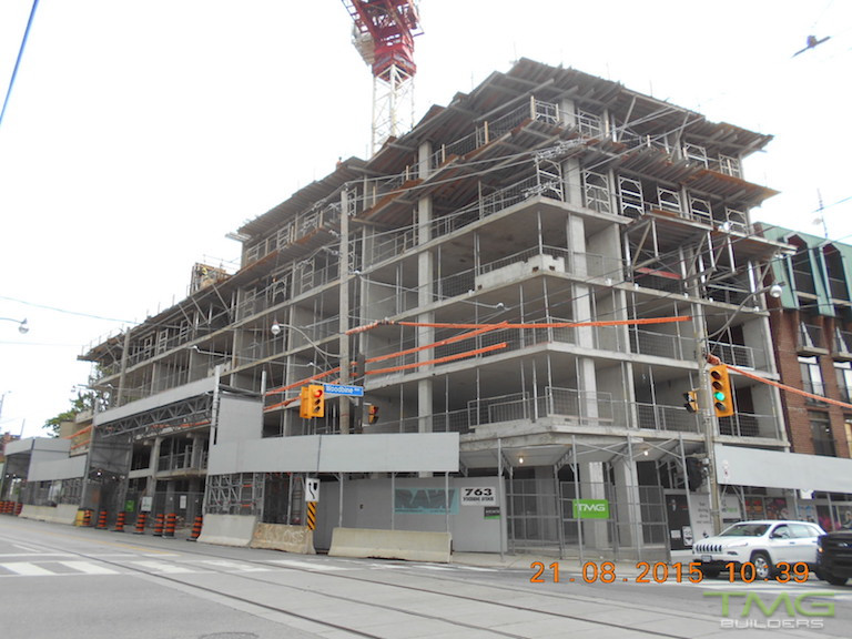 Beach Hill Residences construction 4 - September 2015