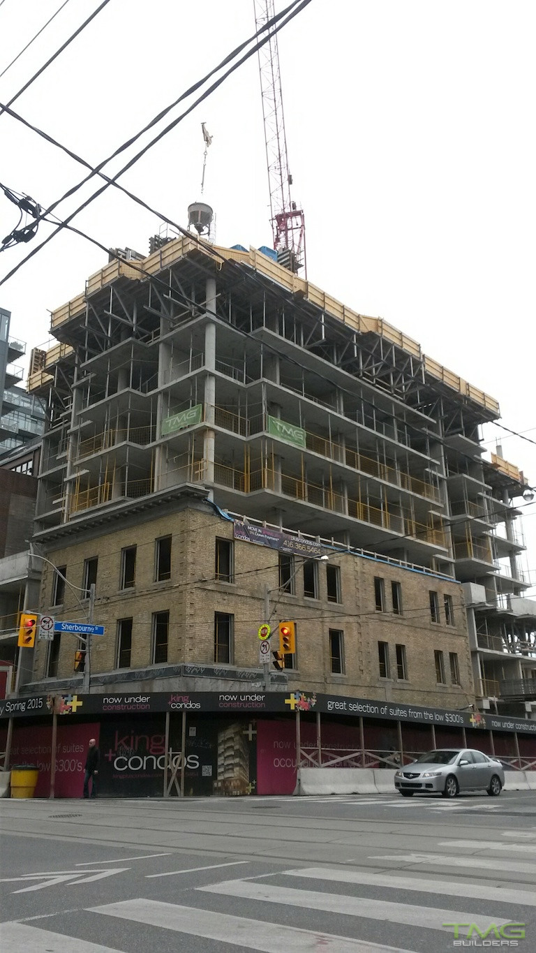 King+ Condos construction 4 - October 2014